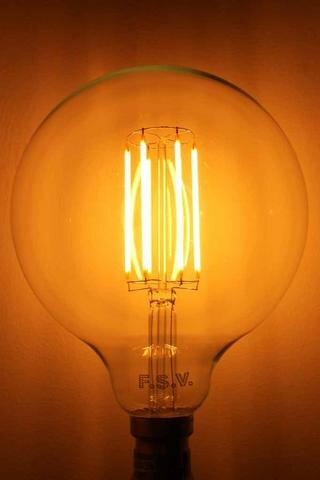 40W Orange E26 Incandescent Edison Standard Light Bulb by HCD USA