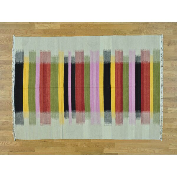 One-of-a-Kind Bishop Dazzle Design Handmade Kilim Wool Area Rug by Isabelline