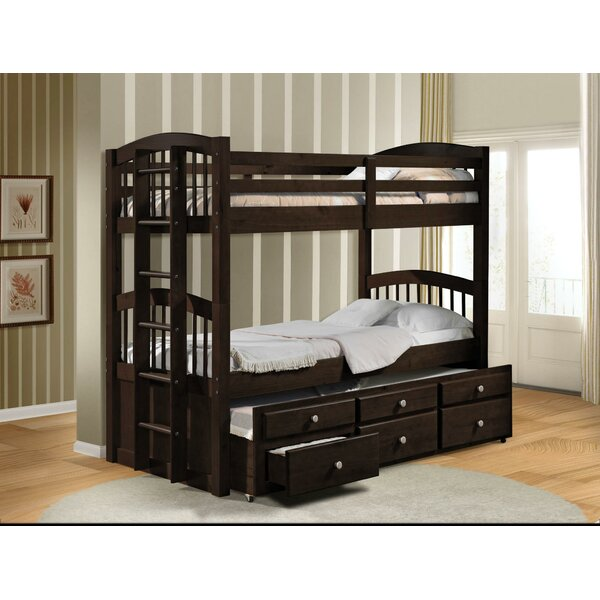 Steuben Twin over Twin Bunk Bed with 2 Drawers by Harriet Bee