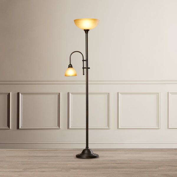 Marshallville 71.5 Torchiere Floor Lamp by Alcott Hill