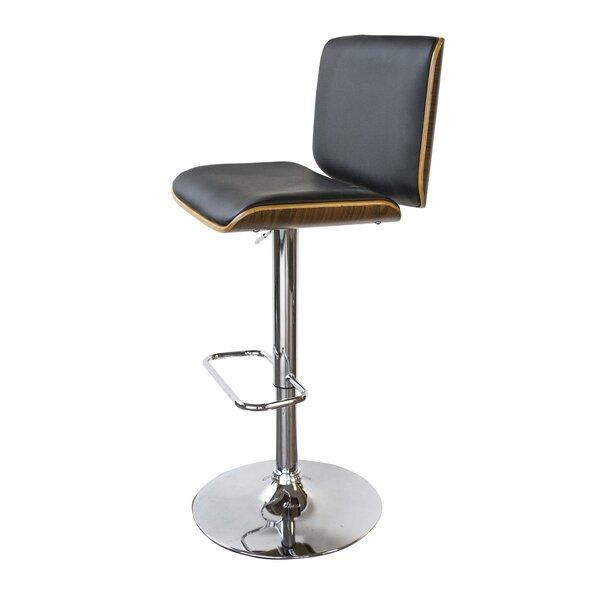 Vanwyk Adjustable Height Swivel Bar Stool by Wrought Studio