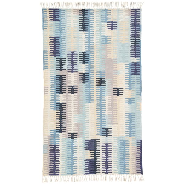 Afton Hand-Loomed Blue Indoor/Outdoor Area Rug by Bungalow Rose