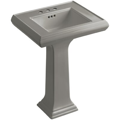 Kohler Pedestal Sink Ceramic Overflow Thunder Faucet Mount Bathroom Sinks