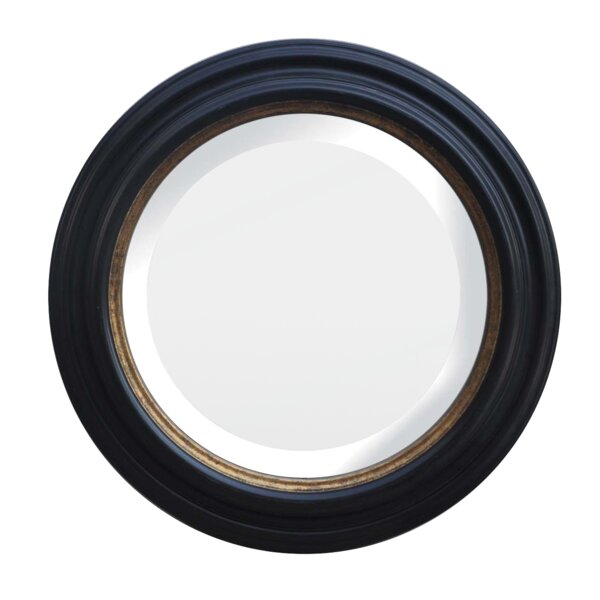 Lilyanna Wood Frame Round Beveled Wall Mounted Mirror by Bloomsbury Market