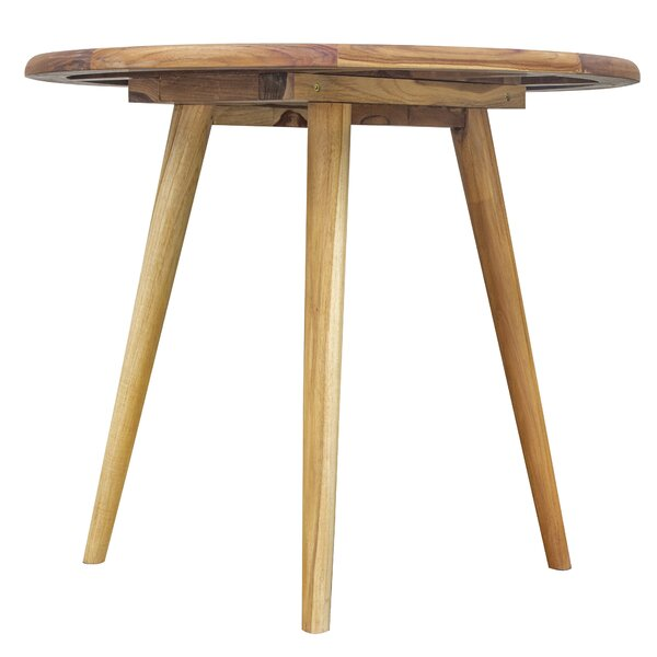 Mayle Mid-Century Modern Solid Wood Dining Table by Wrought Studio