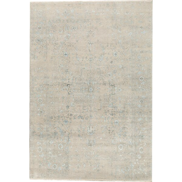 One-of-a-Kind Brookhaven Hand-Knotted Beige 9'11 x 14'3 Area Rug