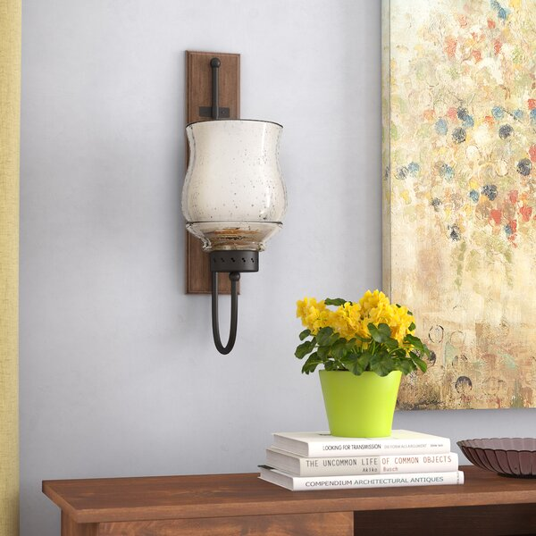 Hicchecok Metal and Wood Wall Sconce by Alcott Hil