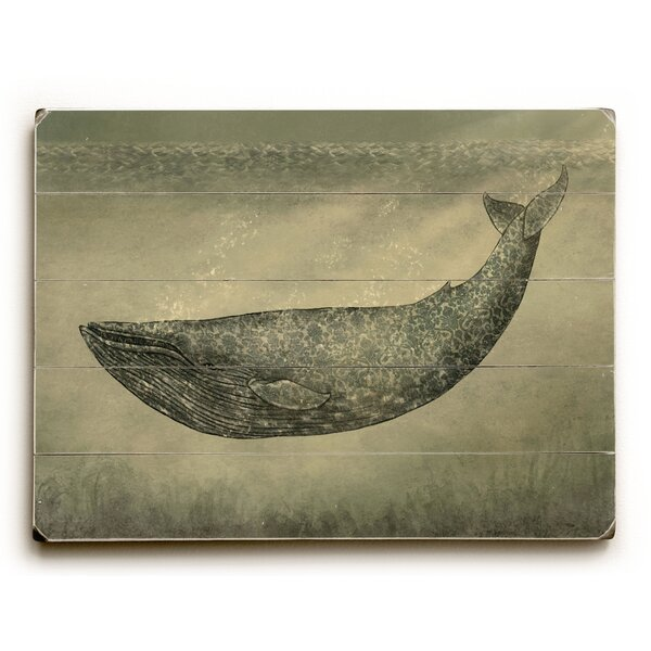 Floral Whale Graphic Art by Breakwater Bay
