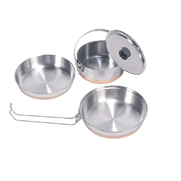 Stansport 3 Piece Mess Stainless Steel Cookware Set by Vargo