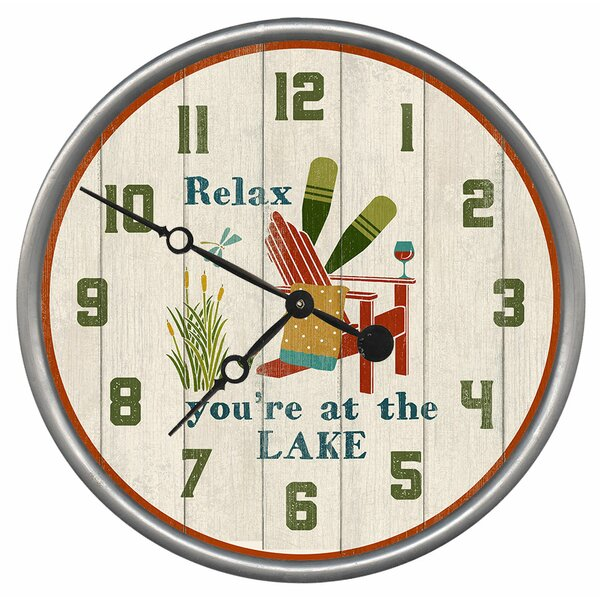 Neblett Relax Wall Clock by Loon Peak