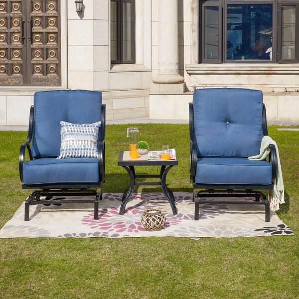 Strayer 3 Piece Seating Group with Cushions by Charlton Home