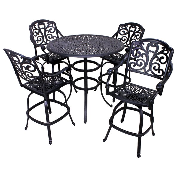 Thurston 5 Piece Bar Height Dining Set by Fleur De Lis Living