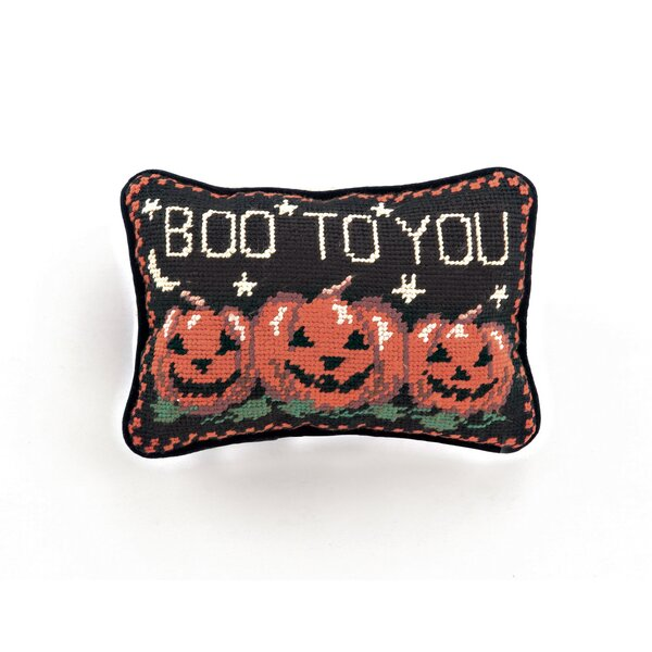 Halloween Needlepoint Lumbar Pillow by Peking Handicraft
