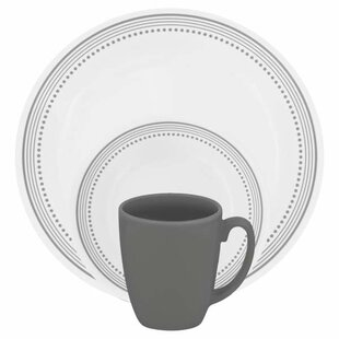 Livingware 16 Piece Dinnerware Set Service for 4. by Corelle  sc 1 st  Wayfair & Corelle Dinnerware