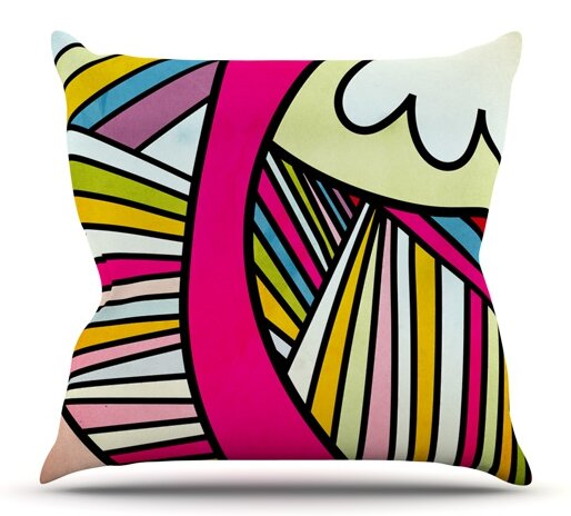 Fake Colors by Danny Ivan Outdoor Throw Pillow by East Urban Home