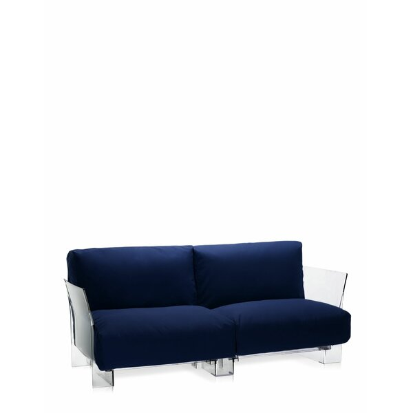 Pop Outdoor Two Seater Sofa with Cushion by Kartell