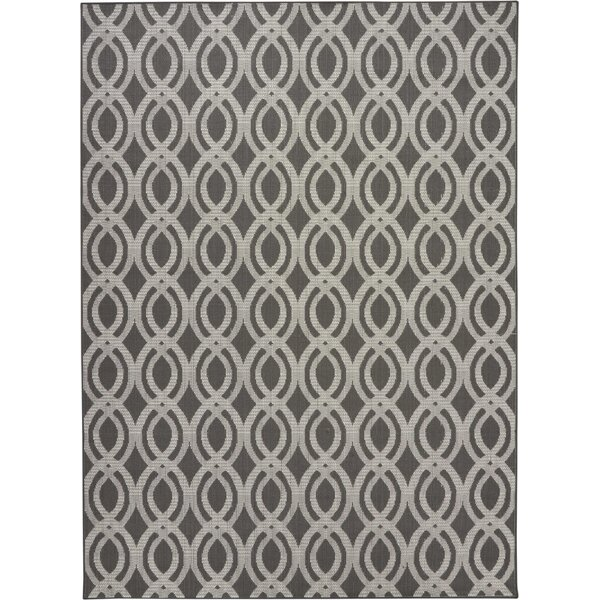 Lawanda Geometric Gray Indoo r/ Outdoor Area Rug