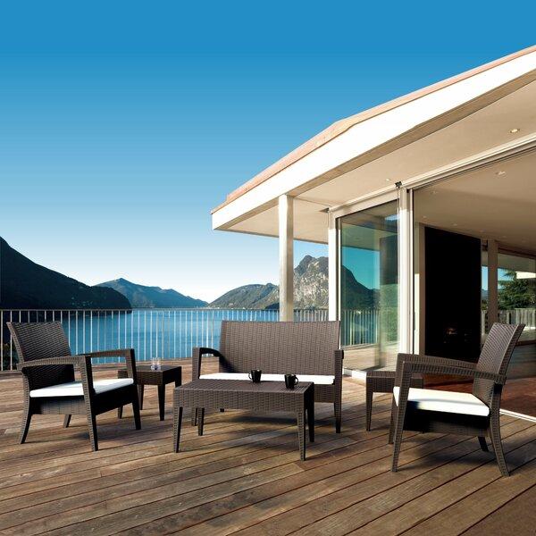 Kesler 6 Piece Rattan Sunbrella Sofa Seating Group with Cushions by Brayden Studio