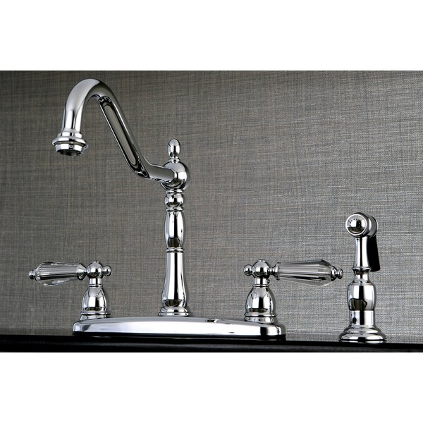 Wilshire Double Handle Kitchen Faucet with Side Spray by Kingston Brass