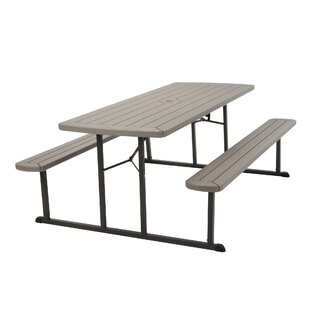 Great Adam Blow Mold Folding Metal Picnic Table