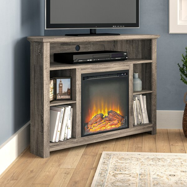 Senecaville Corner 44 TV Stand with Fireplace by Darby Home Co