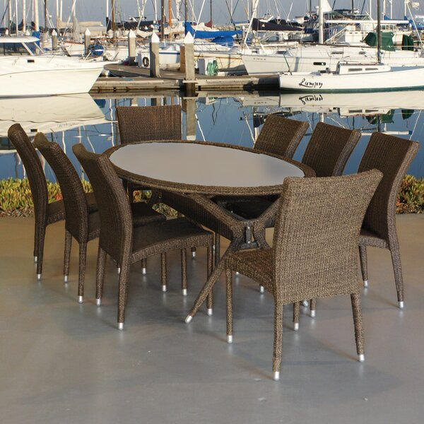 Bari 9 Piece Dining Set by International Home Miami
