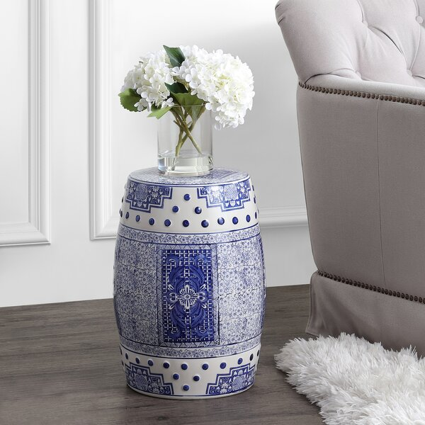 Bendale Chinoiserie Ceramic Garden Stool by World Menagerie World Menagerie