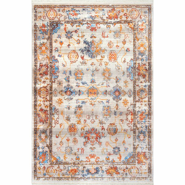 Vinehill Ivory Area Rug by Rosecliff Heights