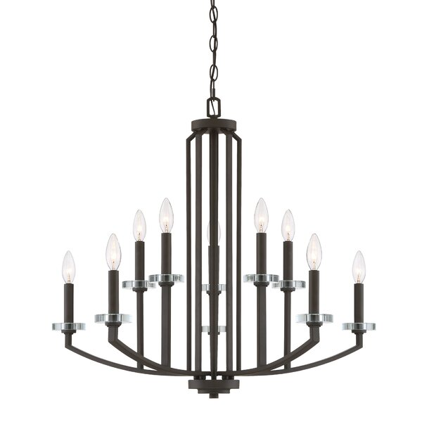 Enders 10-Light Candle Style Tiered Chandelier with Crystal Accents Accents by Charlton Home Charlton Home