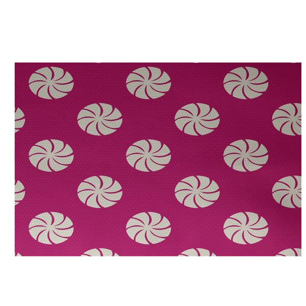 Decorative Holiday Geometric Print Pink Indoor/Outdoor Area Rug by The Holiday Aisle
