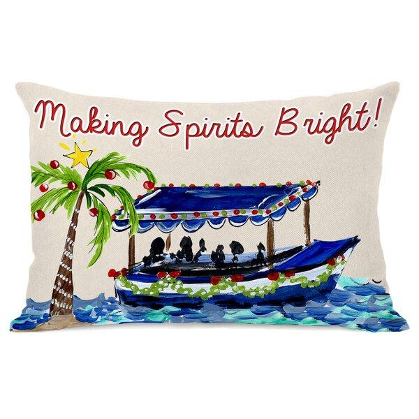 Making Spirits Bright Lumbar Pillow by One Bella Casa