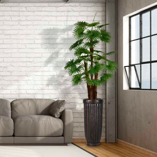 Artificial Indoor/Outdoor Décor Floor Palm Tree in Planter by Red Barrel Studio