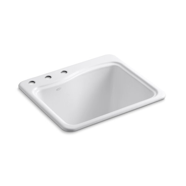 River Falls Metal Rectangular Drop-In Bathroom Sink by Kohler