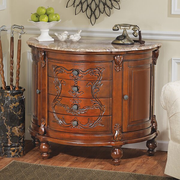Carbonne Crescent Solid Marble Top Accent Chest by Design Toscano Design Toscano