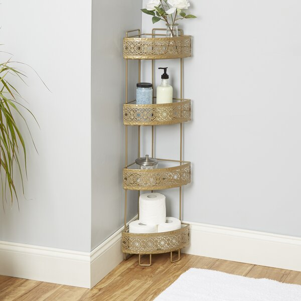 Gillespie Caddy 8.5 W x 37.4 H Bathroom Shelf by Bungalow Rose