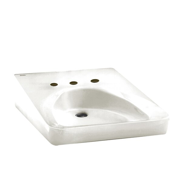 Ceramic 20 Wall Mount Bathroom Sink with Overflow by American Standard