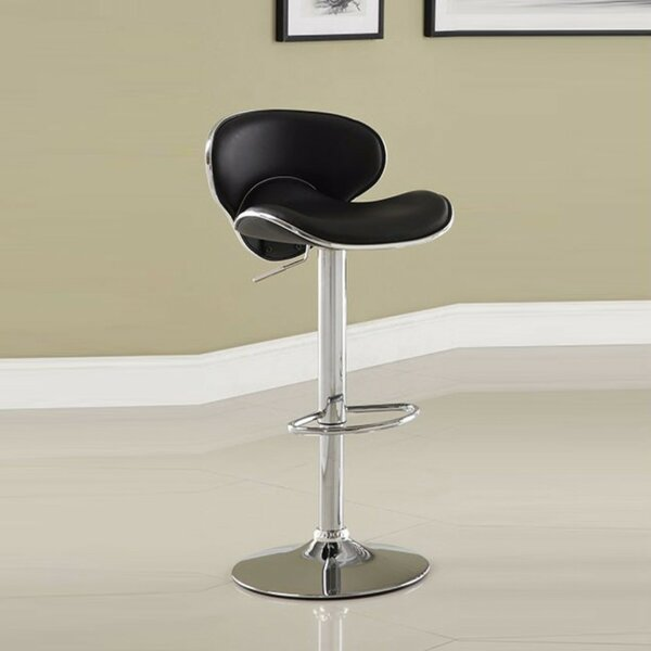 Kalicki Adjustable Height Swivel Bar Stool by Orren Ellis