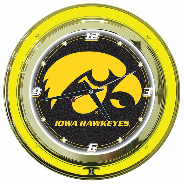 14 University of Lowa Wall Clock by Trademark Global