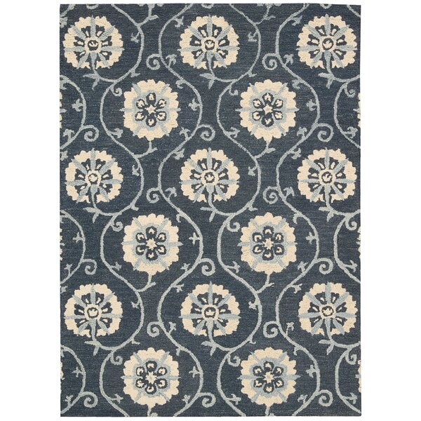 Donnellson Hand-Tufted Blue Area Rug by Darby Home Co