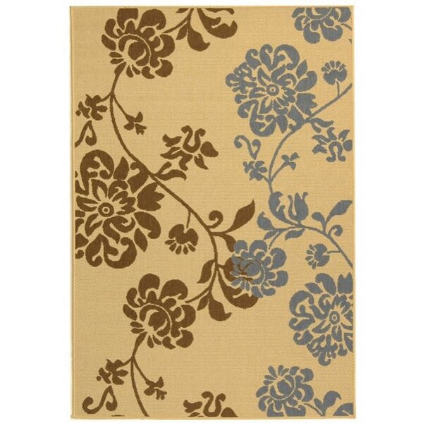 Laurel Brown/Blue Indoor/Outdoor Area Rug by August Grove