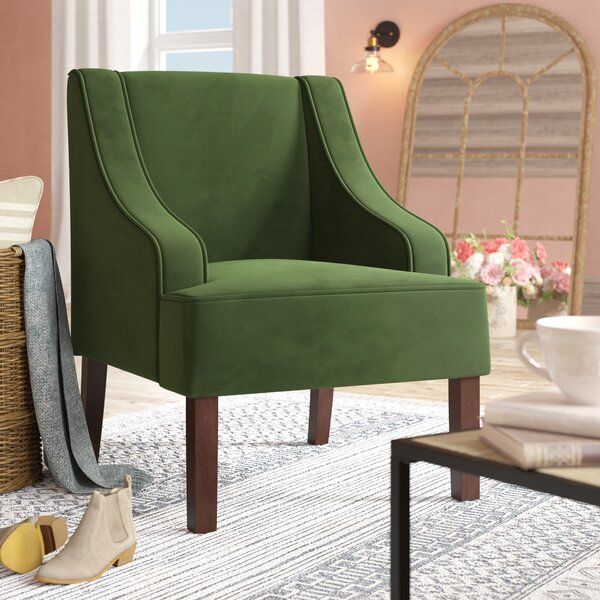 Antoinette Velvet Swoop Armchair by Laurel Foundry Modern Farmhouse