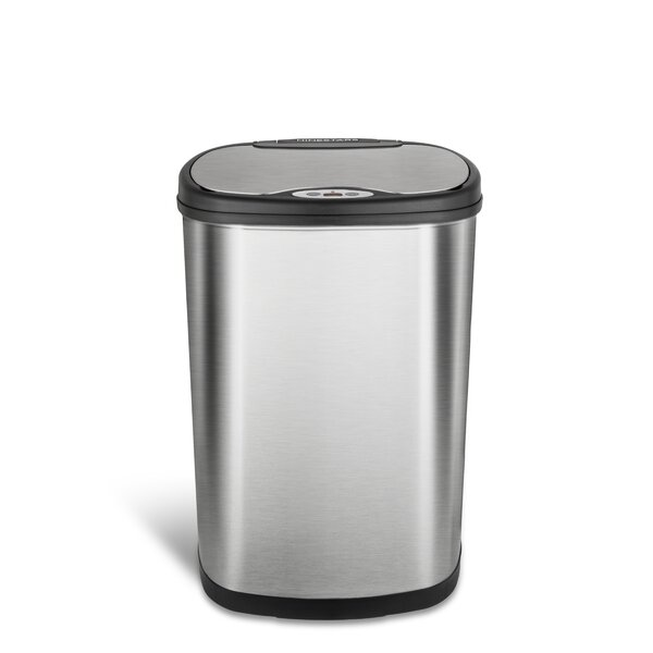 Nine Stars 13.2 Gallon Motion Sensor Trash Can by Nine Stars