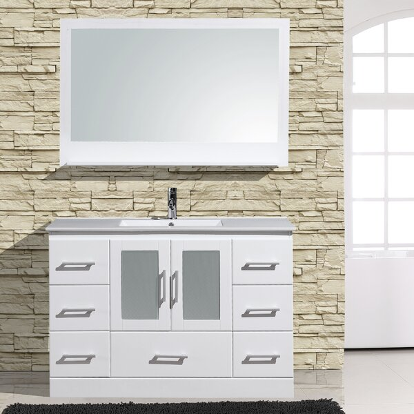 Alva 48 Single Bathroom Vanity with Mirror by Adornus