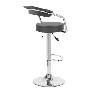 Zool Adjustable Height Swivel Bar Stool by Vandue Corporation