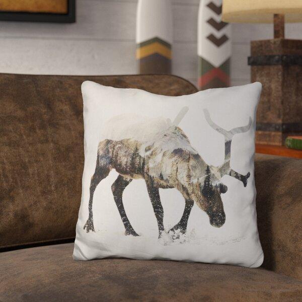 Okelly Reindeer Throw Pillow by Loon Peak