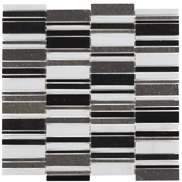 Harrison Decorative Accent Random Sized Marble Mosaic Tile in Waterfall Cool by Itona Tile
