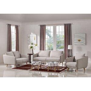 3 piece living room sets. Alivia 3 Piece Living Room Set Modern Sets  AllModern
