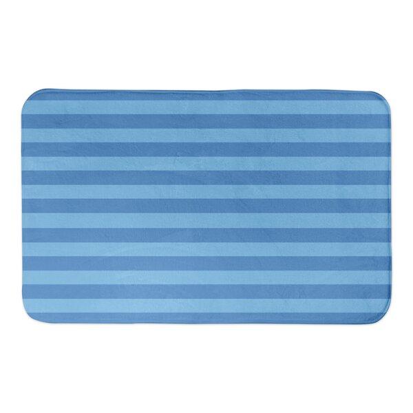 Malani Blue Stripes Bath Rug by Winston Porter