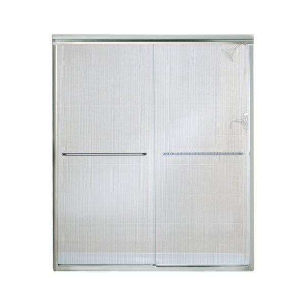 Finesse 59.63 x 70.08 Bypass Frameless Shower Door by Sterling by Kohler