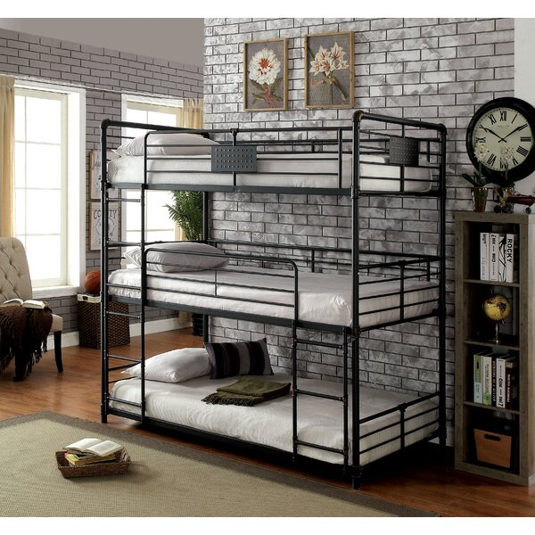 Dowdey Twin Over Twin Triple Bunk Bed by Harriet Bee